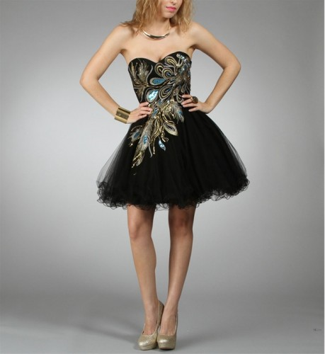 Little Black Prom Dress 2012