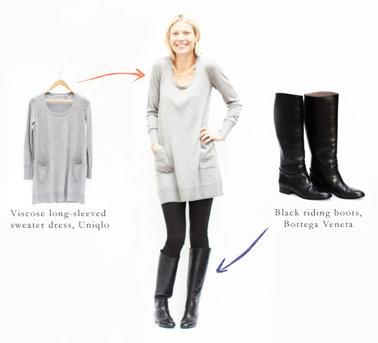 Sweater Leggings and Boots with Dresses