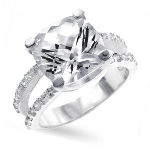 Big Cushion Engagement Ring