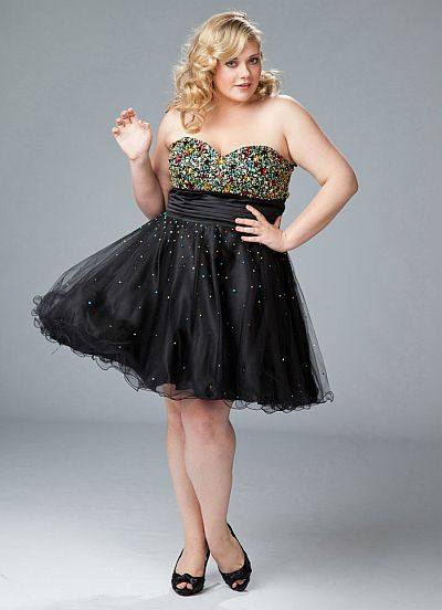 Black Plus Size Cocktail Dresses