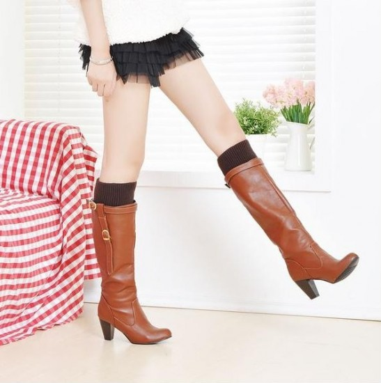 Brown Leather Boots Women