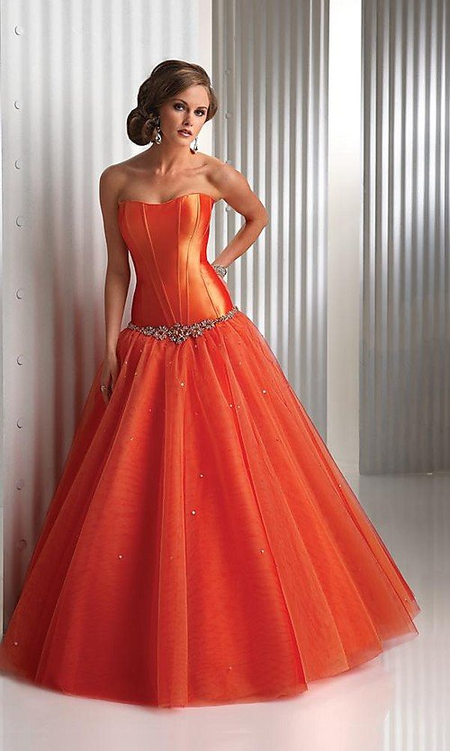 Burnt Orange Prom Dresses
