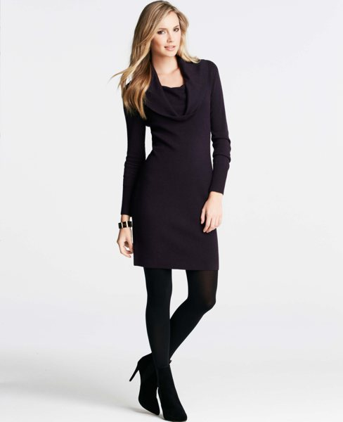 Cowl Neck Sweater Dress from Ann Taylor Loft