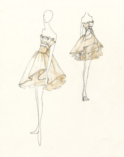 Dress Sketches for Fashion Designing