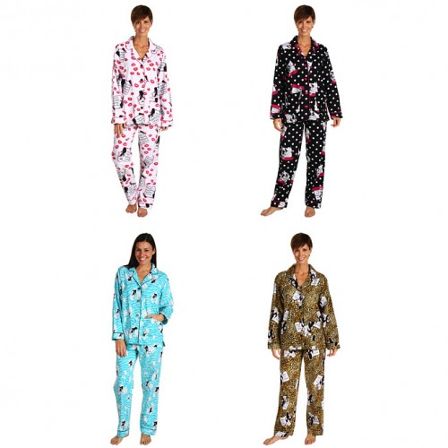 Flannel Pajama Sets for Women