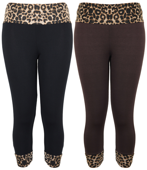Leopard Print Leggings Plus Size