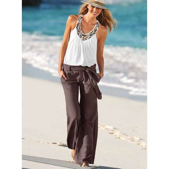 Lastest 25+ Best Ideas About Linen Pants Outfit On Pinterest | White Linen Trousers Linen Pants Women ...