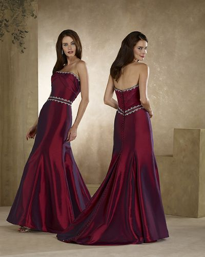 Maroon Wedding Dress