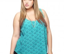 Plus Size Party Tops in Violet for a Little Party