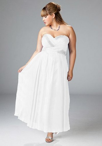 Plus Size White Prom Dresses