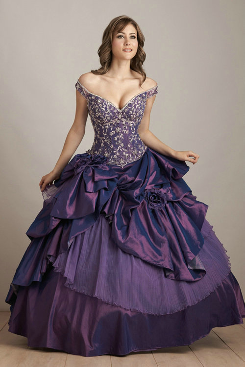 Magycal and mystical purple quinceanera dresses