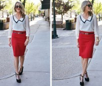 Have an Elegant Appearance with Red Pencils Skirt