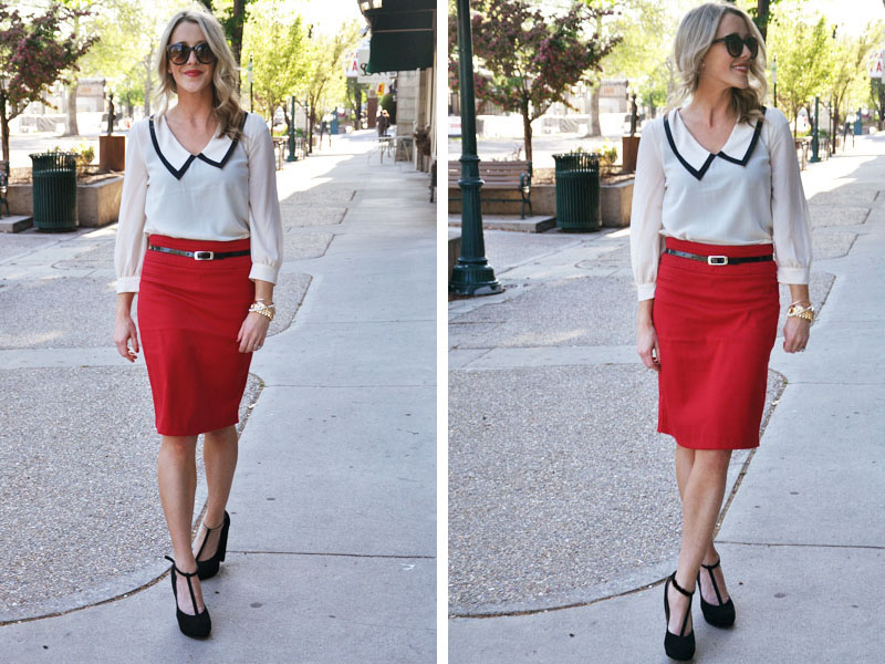 5feb79900c What To Wear With A Red Pencil Skirt | Fashion Belief