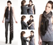 New Trend of Tie Scarf Around Neck
