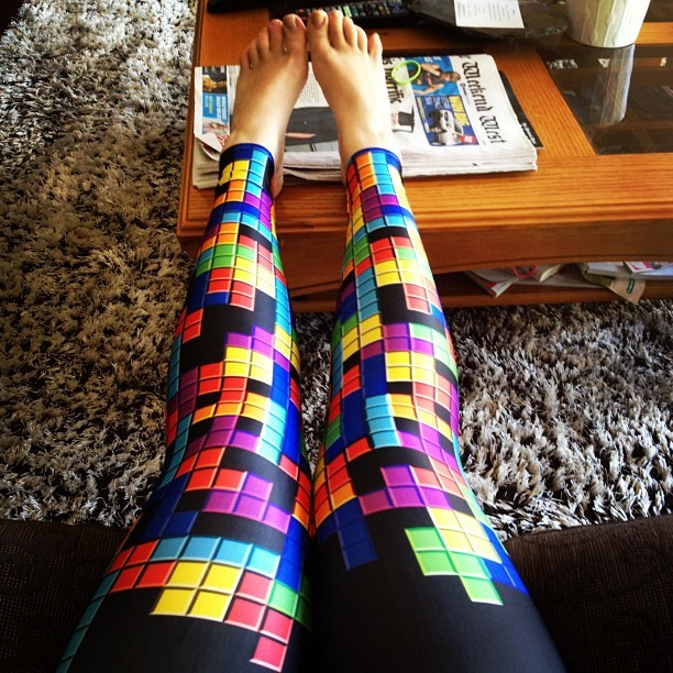 Tetris Leggings Black Milk Fashion Belief