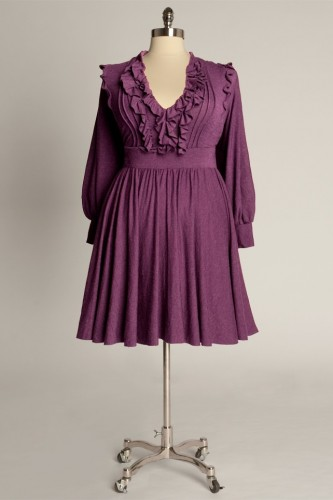 This Plus Size Party Tops In Violet