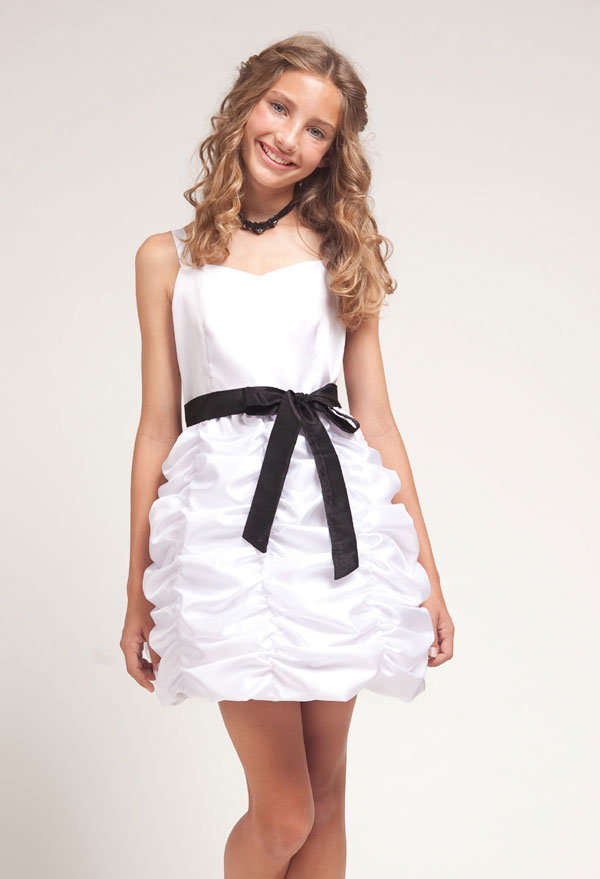 White Junior Dresses Graduation