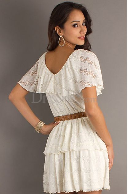 White Lace Dresses Juniors Fashion Belief