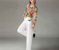 Look Simply Stylist with White Lines Pants for Women