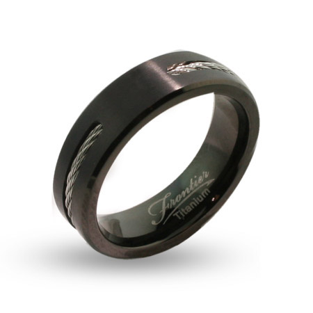 Black Titanium Wedding Bands For Men Fashion Belief