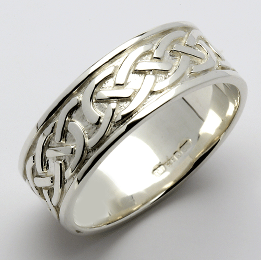 Celtic Wedding Ring Sterling Silver