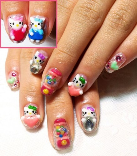 Draw Hello Kitty Your Nails