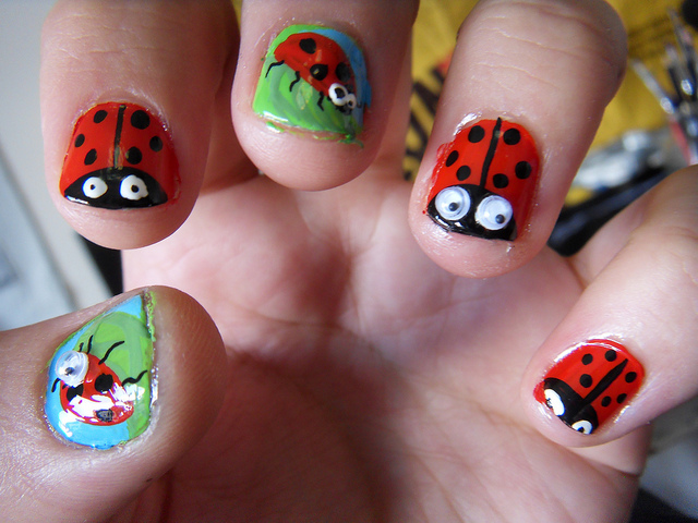 Easy nail art ladybug : Easy cute nail designs for teenagers fashion belief
