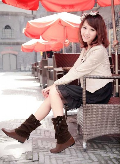 Flat Boots for WOmen with Big Calves