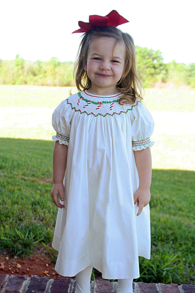 Girls Smocked Christmas Dresses