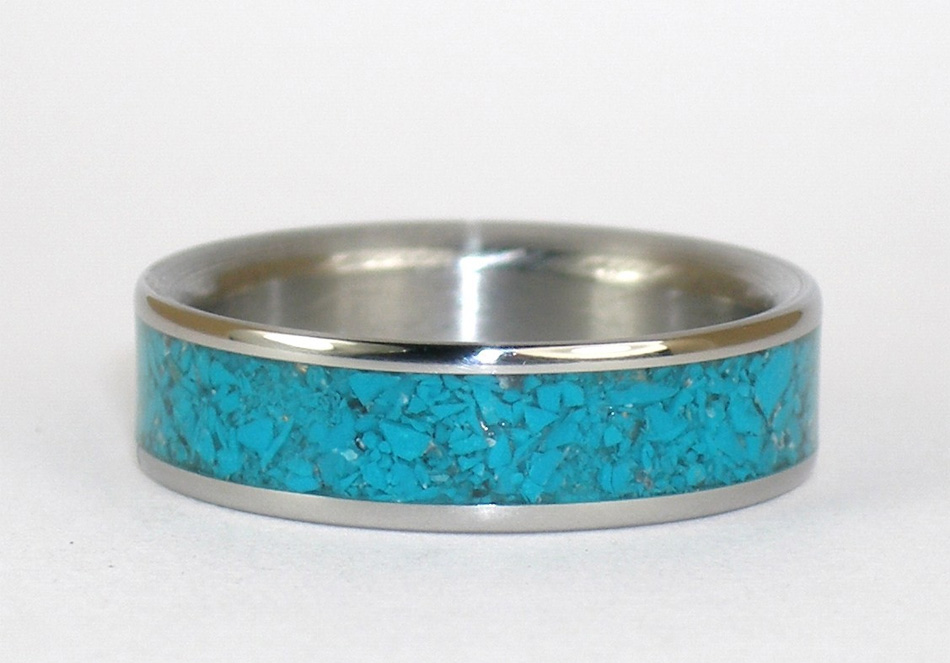 Hawaiian Titanium Wedding Rings
