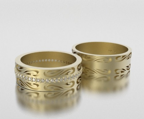His And Her Matching Wedding Ring Sets