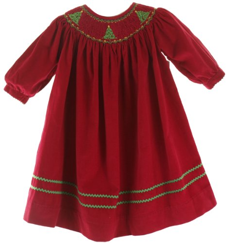 Infant Smocked Christmas Dresses