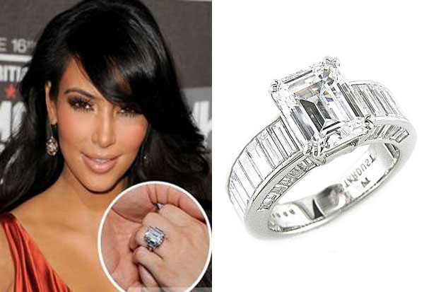 Kim Kardashian Wedding Ring Replica