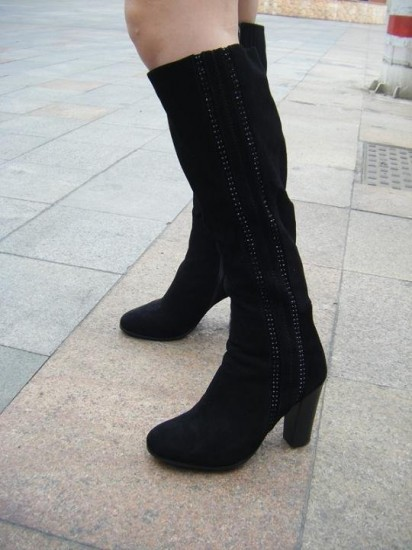 Knee High Motorcycle Boots Women