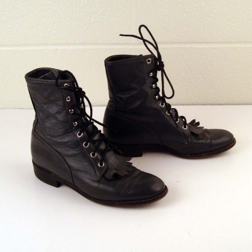 Lace Up Boots For Women Vintage