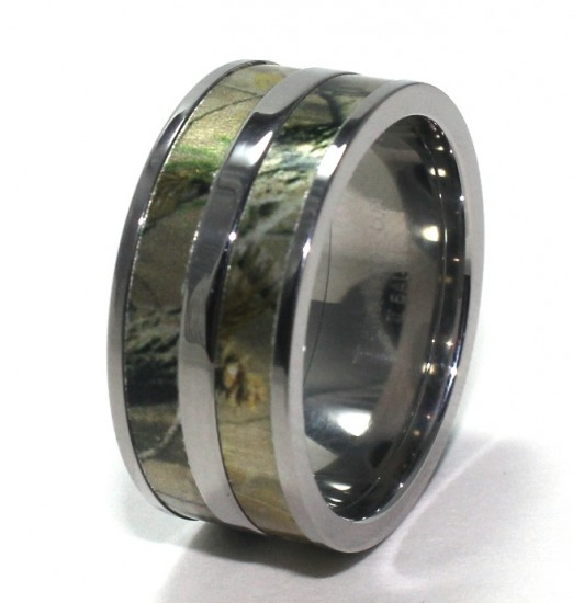 Mens Camouflage Wedding Ring
