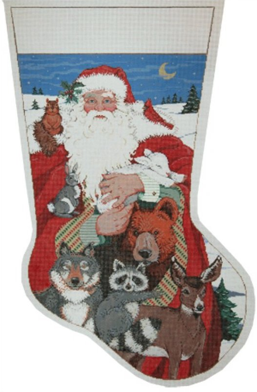 needlepoint christmas stocking canvas