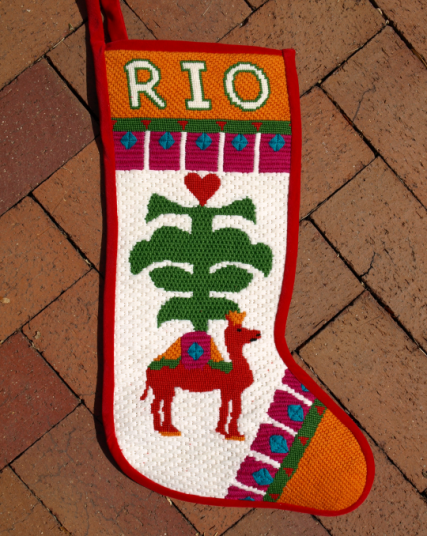 Variety Design of Needlepoint Christmas Stockings