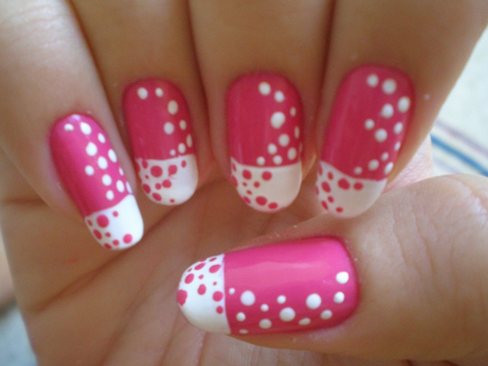 Pro Pink And White Nails Fashion Belief