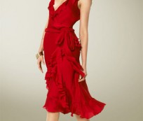 Red Wrap Dress for Casual and Formal Occasion