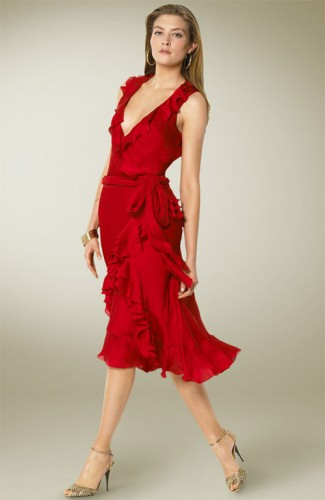 Ralph Lauren Red Wrap Dress