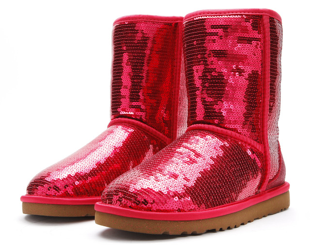 Red sparkle ugg boots fashion belief