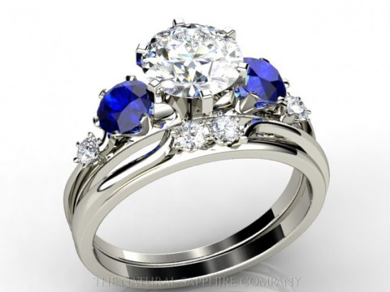 Sapphire Diamond Wedding Bands