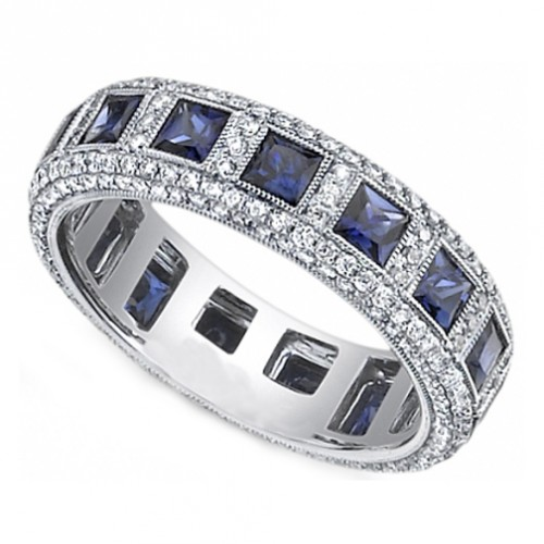 Sapphire Wedding Bands For Men