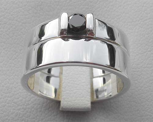 Silver Wedding Rings Sets
