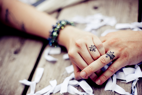 Simple Wedding Ring Tattoos