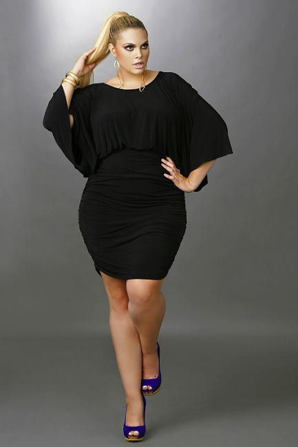 Trendy Plus Size Black Dresses