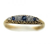 Perfectly Beautiful Sapphire Wedding Bands