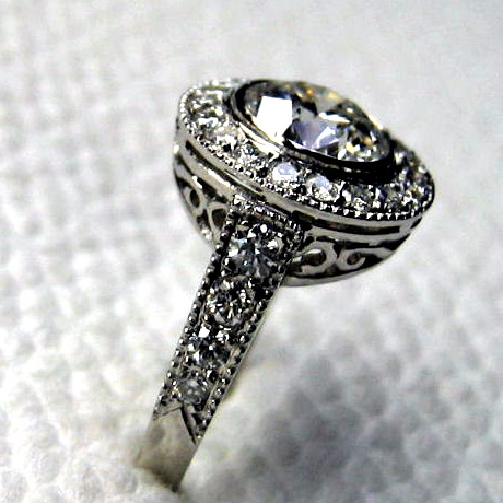 Vintage wedding ring pinterest fashion belief Vintage style fashion rings