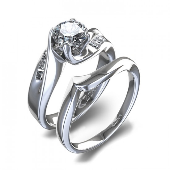 White Gold Wedding Sets For Women